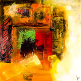 Modern abstract painting fine art artprint Royalty Free Stock Images