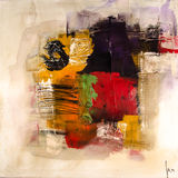 Modern abstract painting fine art artprint Royalty Free Stock Photos