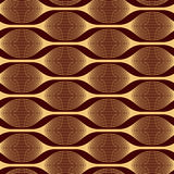Modern abstract pattern of interwoven lines. Longitudinal mesh figures. Seamless vector pattern. Golden color on a claret background. Can be using to stock illustration
