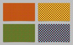 Modern abstract polka dot business card background set - vector design with colored circles Stock Photography