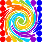 Modern abstract rainbow spiral motif Royalty Free Stock Images