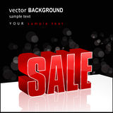 Modern abstract sale illustration Stock Photography