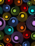 Modern abstract seamless background with rainbow patterns Royalty Free Stock Photos