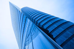 Modern abstract skyscraper tower Royalty Free Stock Photos