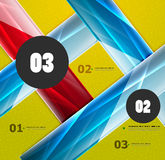 Modern abstract steps lines template Royalty Free Stock Image