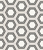 Modern abstract stylish hexagonal geometric texture. For fabric and ceramics - vector seamless pattern Stock Illustration