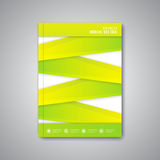 Modern abstract template layout brochure, magazine Stock Photography