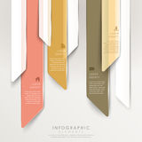 Modern abstract translucent arrow bar chart infographic Royalty Free Stock Images