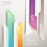 Modern abstract translucent arrow bar chart infographic Stock Images