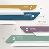 Modern abstract translucent arrow bar chart infographic Stock Image