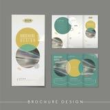 Modern abstract tri-fold brochure template design vector illustration