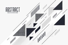 Modern abstract triangle and lines composition background. Vector stock illustration