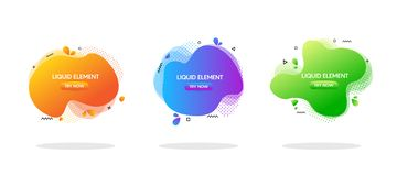 Modern abstract vector banner set. colorful geometric liquid form with various colors. Modern vector template, Template for the stock illustration