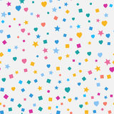 Modern Abstract Vector Confetti Background. Seamless colorful Stock Photos