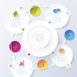 Modern abstract vector design infographic for your business royalty free illustration