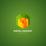 Modern abstract vector logo or element design. Best for identity and logotypes. Simple shape. Royalty Free Stock Photo