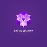 Modern abstract vector logo or element design. Best for identity and logotypes. Simple shape. The best composition of сolor lines, dots, geometric shapes Royalty Free Stock Photos