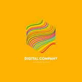 Modern abstract vector logo or element design. Best for identity and logotypes. Simple shape. The best composition of сolor lines, dots, geometric shapes Stock Photo