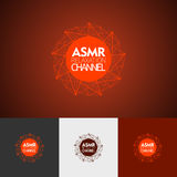 Modern abstract vector logo or element design. Best for identity and logotypes. Simple shape. The best composition of сolor lines, dots, geometric shapes Royalty Free Stock Photography
