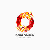 Modern abstract vector logo or element design. Best for identity and logotypes. Simple shape. A good solution for corporate identity company providing digital Stock Photography