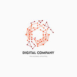 Modern abstract vector logo or element design. Best for identity and logotypes. Simple shape. A good solution for corporate identity company providing digital Stock Image