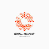 Modern abstract vector logo or element design. Best for identity and logotypes. Simple shape. A good solution for corporate identity company providing digital Royalty Free Stock Photography