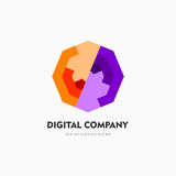 Modern abstract vector logo or element design. Best for identity and logotypes. Simple shape. A good solution for corporate identity company providing digital royalty free illustration