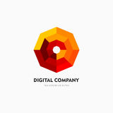 Modern abstract vector logo or element design. Best for identity and logotypes. Simple shape. A good solution for corporate identity company providing digital Royalty Free Stock Photo