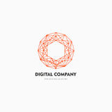 Modern abstract vector logo or element design. Best for identity and logotypes. Simple shape. A good solution for corporate identity company providing digital Royalty Free Stock Image