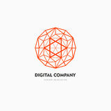 Modern abstract vector logo or element design. Best for identity and logotypes. Simple shape. A good solution for corporate identity company providing digital Royalty Free Stock Photos