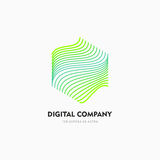 Modern abstract vector logo or element design. Best for identity and logotypes. Simple shape. A good solution for corporate identity company providing digital Stock Photo