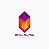 Modern abstract vector logo or element design. Best for identity and logotypes. Simple shape. Royalty Free Stock Images