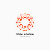 Modern Abstract Vector Logo Or Element Design. Best For Identity And Logotypes. Simple Shape. Royalty Free Stock Photos