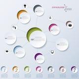 Modern abstract vectorontwerp infographic groepswerk, onderwijs Stock Foto