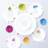 Modern abstract vectorontwerp infographic voor uw zaken royalty-vrije illustratie