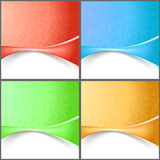 Modern abstract wave tech backgrounds collection Royalty Free Stock Images
