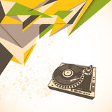 Modern abstraction with turntable. Royalty Free Stock Images