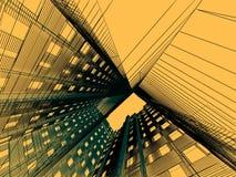 modern abstrakt arkitektur Arkivbilder
