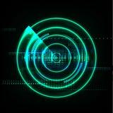 Modern abstrakt bakgrundsvektor för teknologisk global radar Royaltyfri Foto