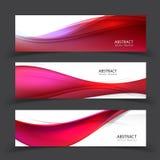 Modern abstrakt banervektordesign royaltyfri illustrationer