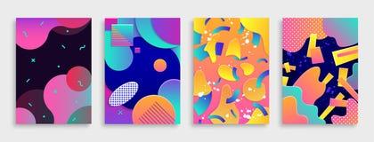 Modern abstrakt begreppräkningsuppsättning Arkivbilder