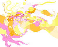 modern abstrakt fantasi för illustration 01 Arkivbild