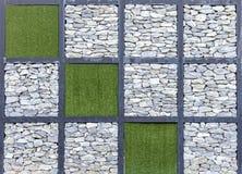 Modern abstrakt modell av dekorativa yttersidor för stenvägg Arkivbild