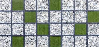 Modern abstrakt modell av dekorativa yttersidor för stenvägg Royaltyfria Bilder