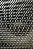 Modern acoustic systems. Metal grating on the sound dynamics. Stock Image