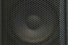 Modern acoustic systems. Metal grating on the sound dynamics. Royalty Free Stock Photos