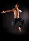 Modern acrobat jumping Stock Image