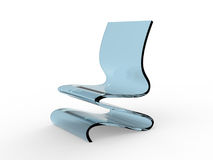 Modern Acrylic Chair Royalty Free Stock Photography
