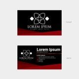 Modern adreskaartje Stock Afbeeldingen