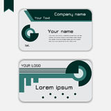 Modern adreskaartje Royalty-vrije Stock Foto's